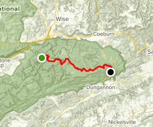 Chief Benge Scout Trail Map