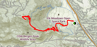 Bergen Peak Trail Map