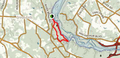 Great Falls Loop Trail Map