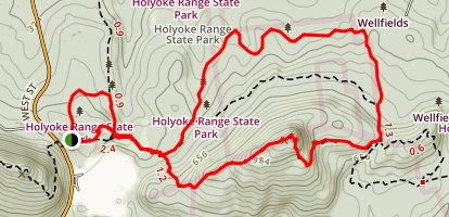 Robert Frost Trail (Mt. Holyoke Range State Park) Map