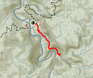 Spruce Flats Falls Trail Map