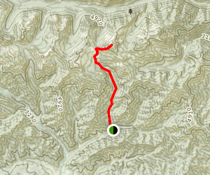 Navajo Pass to Navajo Peak Map