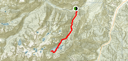 Snow Lakes Trail Map