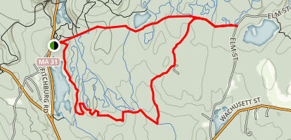 Rocky Pond and Brook Road Loop Map