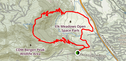 Bergen Peak and Elk Meadows Trail Map