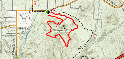 Vasquez Rocks Trail  Map