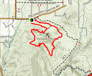 Vazquez Rocks Trail  Map