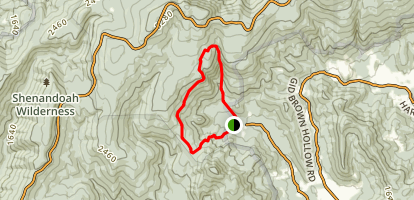 Little Devils Stairs Trail Map