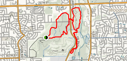 Main and Greene Valley Loop Trail Map