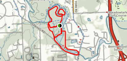 Fullersburg and Graue Mill Loop Trail Map