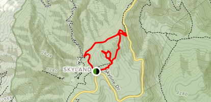 Little Stony Man Loop via Appalachian Trail Map