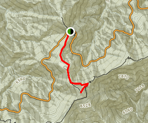 Throop Peak via Dawson Gap Map
