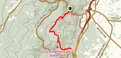 Cat Rock (Yellow) Trail to Catocin (Blue) Trail Map