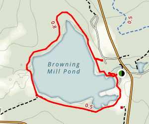 Browning Mill Pond & Tefft Hill Map