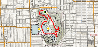 Mount Tabor Loop Trail Map