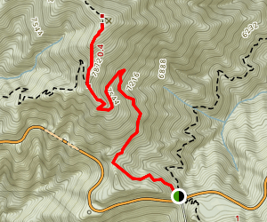 Islip Saddle to Mt. Williamson Via Pacific Crest Trail Map