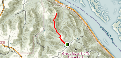 Great River Bluffs State Park Trail Map