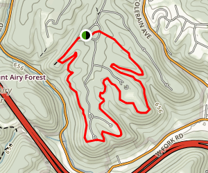Beechwood to Red Oak Trails Loop Map