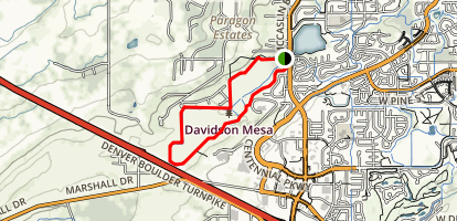 Davidson Mesa Loop Trail Map
