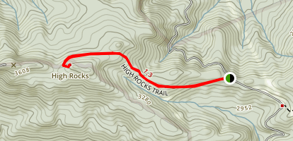 High Rocks Trail Map