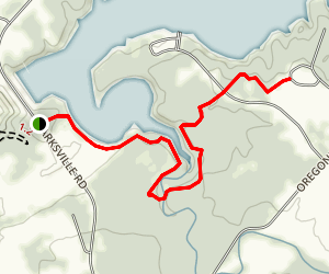 Flat Fork Ridge Trail  Map