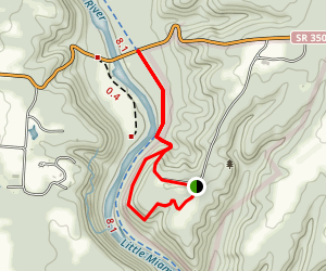 Fort Ancient Memorial Earthworks Trail Map