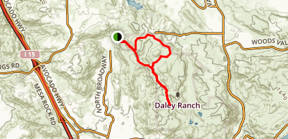 Cougar Ridge to Engelmann Oak Trail Map