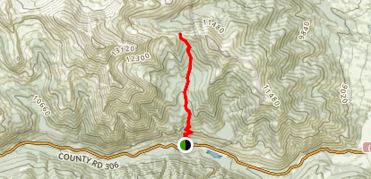 Avalanche Gulch via Main Range Trail Map