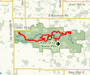 Chain O'Lakes Trails Loop Map