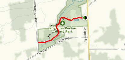 Royalton Falls Trail                                 Map