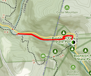 Bash Bish Falls Trail Map