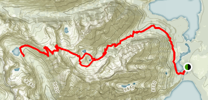 Paintbrush Canyon & String Lake Loop Trail to Lake Solitude Map