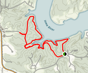 Coralville Reservoir - Woodpecker Trail - Linder & Squire Points Map