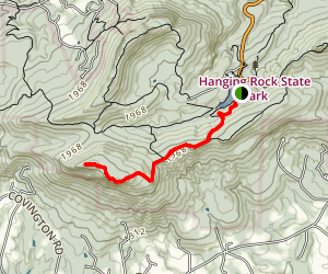 Cook's Wall Trail Map