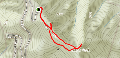 Summit and Rhododendron Trails Loop Map