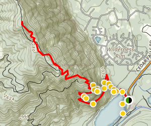 Rattlesnake Ledge Trail  Map