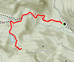 Hessie Trail to Lost Lake Trail Map