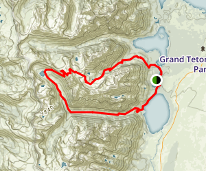 Paintbrush Divide and Lake Solitude Map