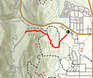 Foothills South Trail to Old Kiln Spur Trail Map