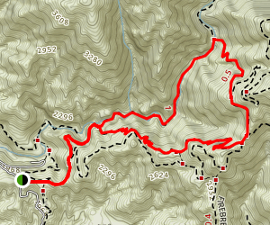 Dawn Mine and Sunset Trail Loop Map