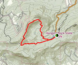 Moores Knob Trail Map