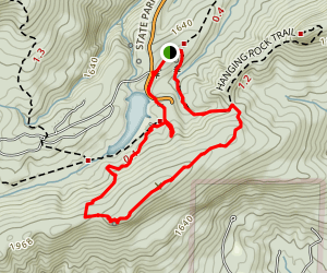 Wolf Rock Loop Trail Map