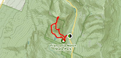 Hi-Cannon and Lonesome Lake Trails Loop Map