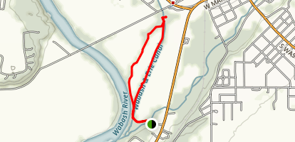 Wabash and Erie Canal Trail Loop Map