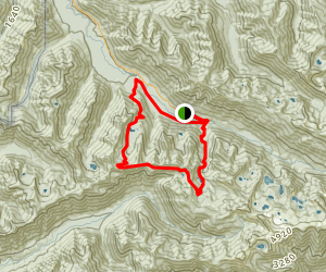 Canyon Creek and Mink Lake Loop Trail Map