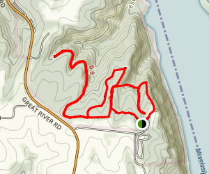 Weeping Rock and Hickory Ridge Loop Trail Map