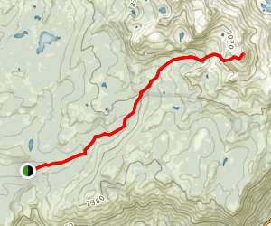 Pyramid Peak via Lyons Creek Trail Map