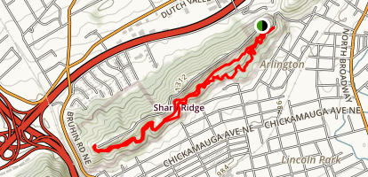 Sharps Ridge Loop Trail Map