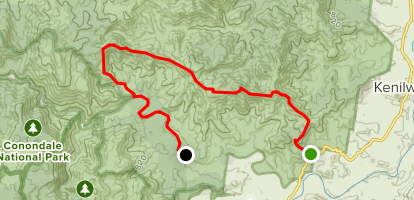 Rocky Creek Gully to Charlie Moreland Campground Map