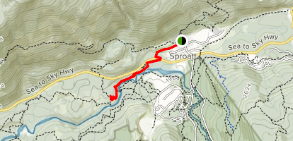 Whistler Trainwreck Trail Map